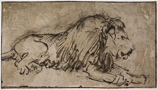 Deze leeuw is van ongeveer 1662